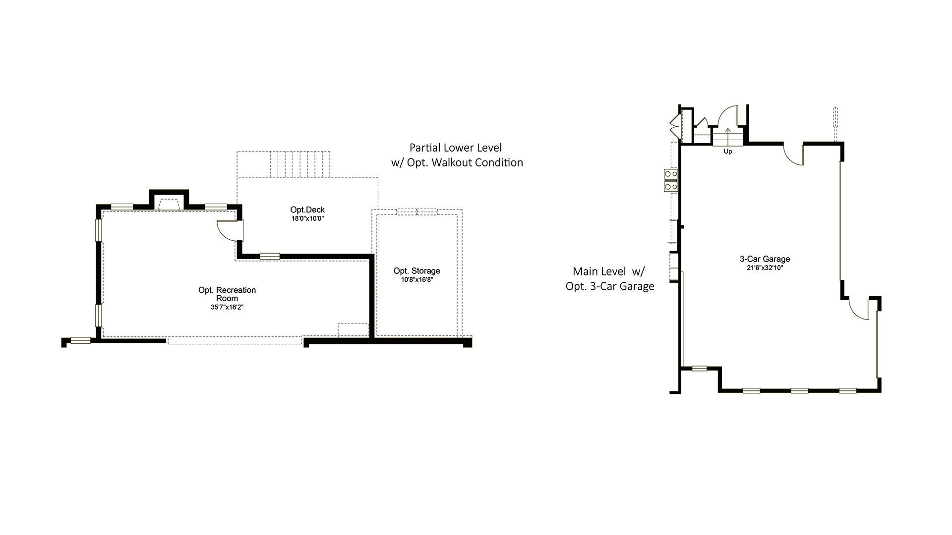 Ashcroft - Fallsgate Series - Available Features, including Optional Walk-out Condition and 3-Car Garage.
