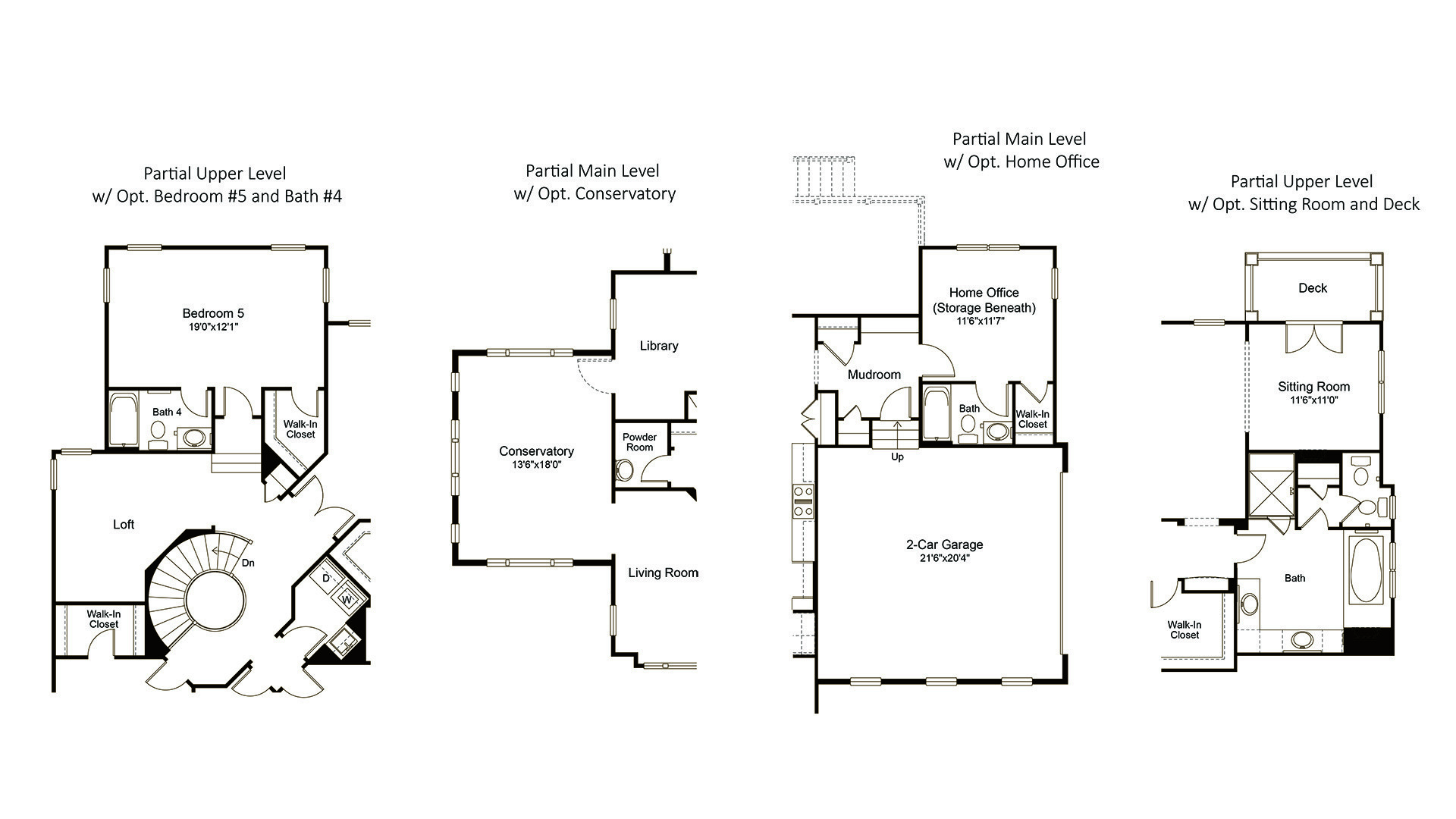 Ashcroft - Fallsgate Series - Available Features, including Optional Conservatory, Bedroom #5, Home Office and Sitting Room w/ Deck.