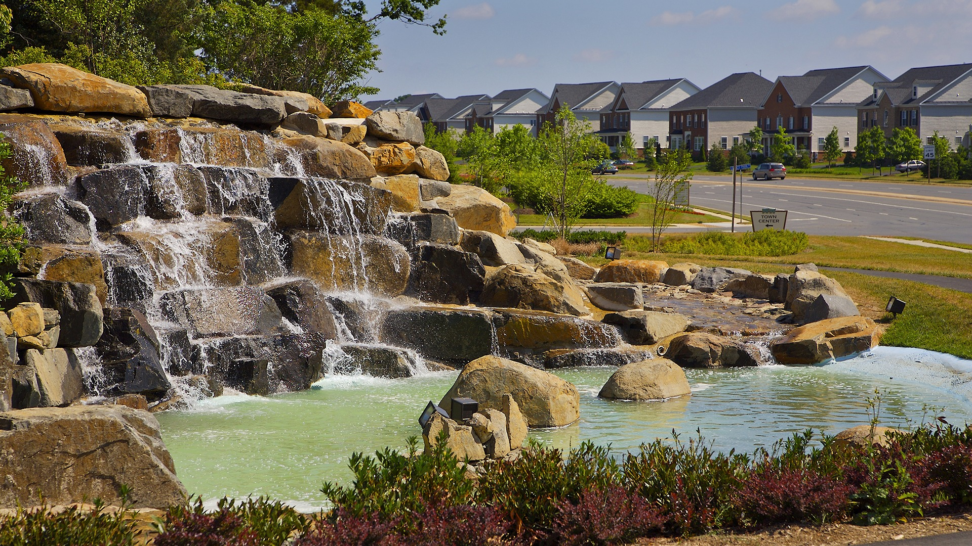 "Brambleton ""theme image"". Often, when designing a community, we use a theme image to inspire us conceptually and creatively. This is a shot of one of several water features throughout Brambleton."