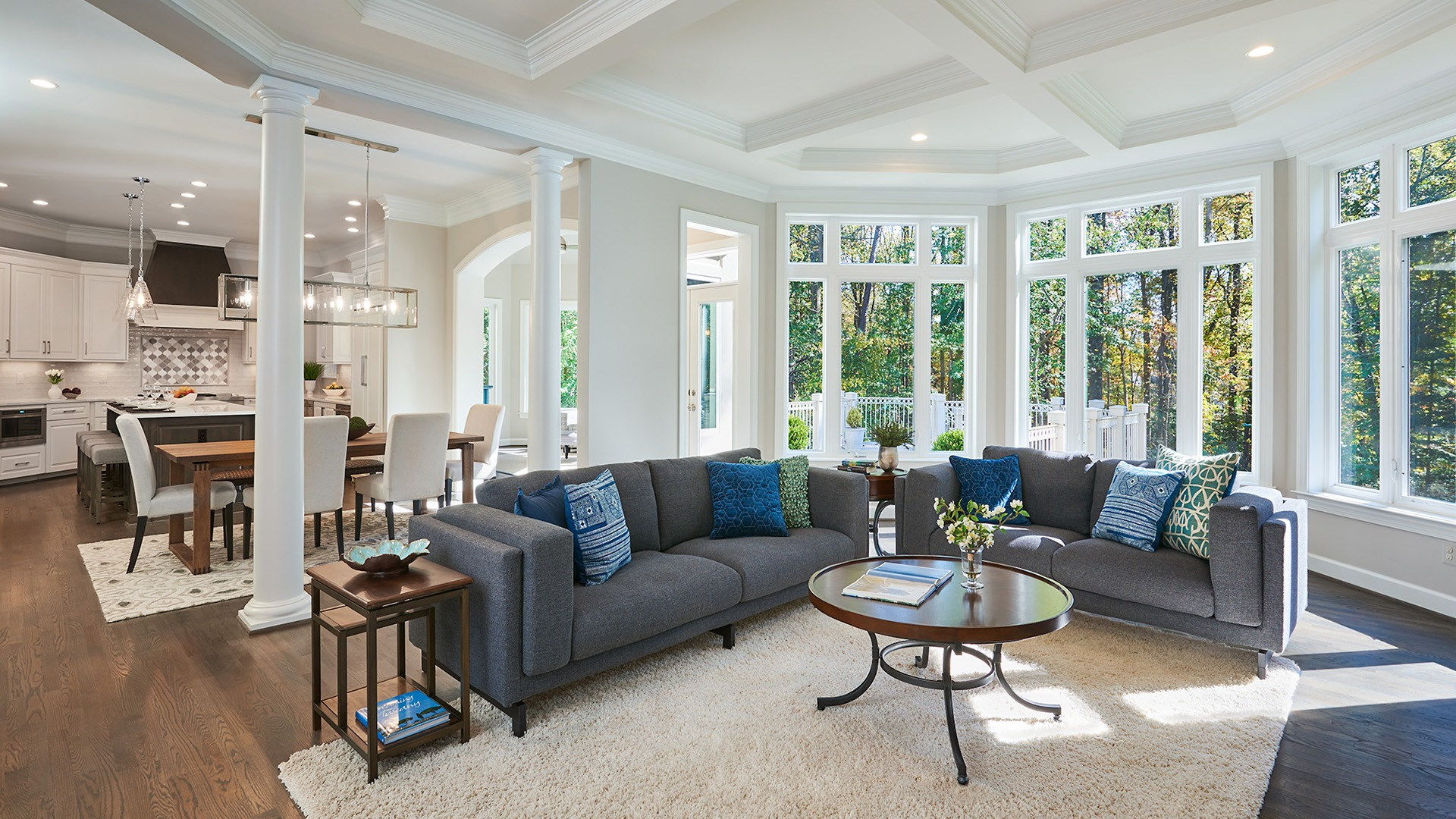 The Example Home Family Room.