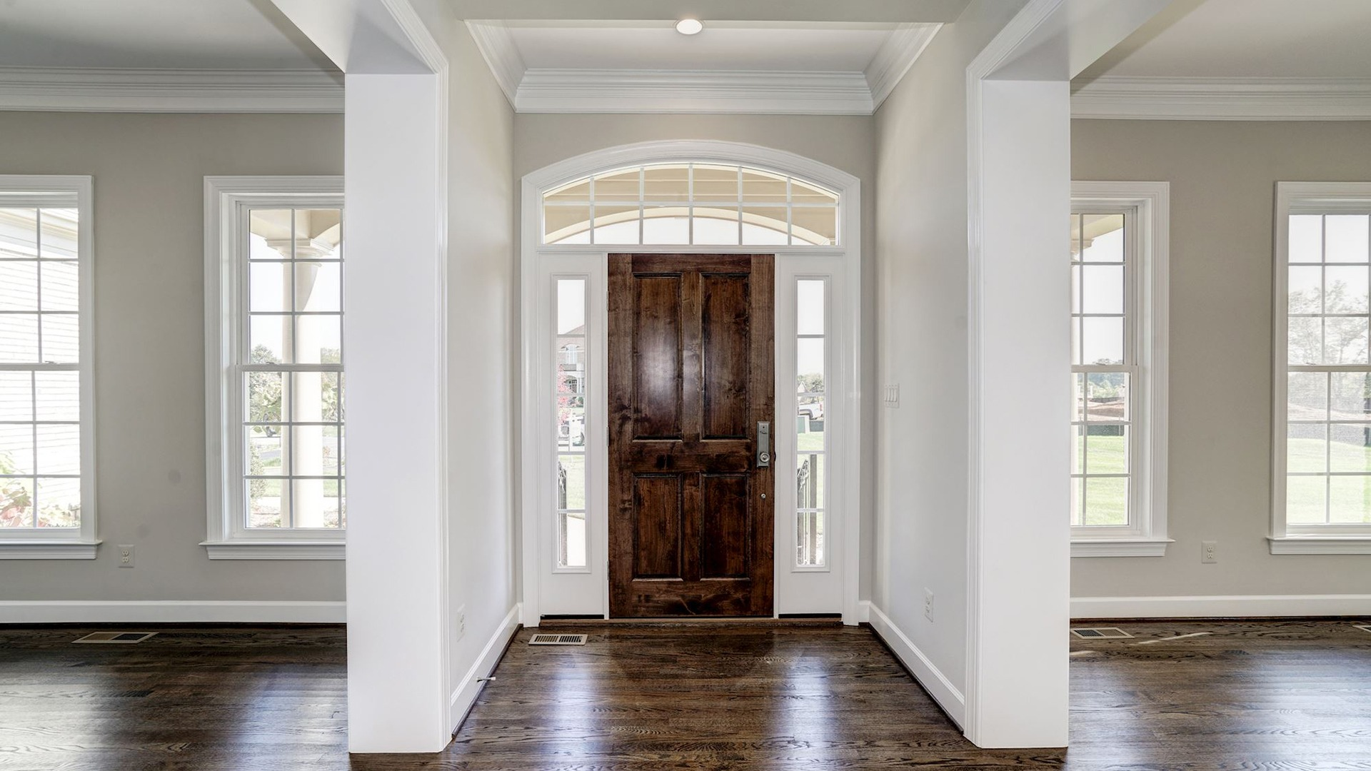 The inviting foyer of the Grayson on Fallsgate Homesite 4. Some optional features shown.