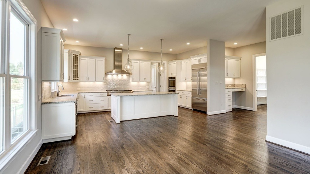 The Gourmet Kitchen in the Grayson on Fallsgate Homesite 4. Some optional features shown.