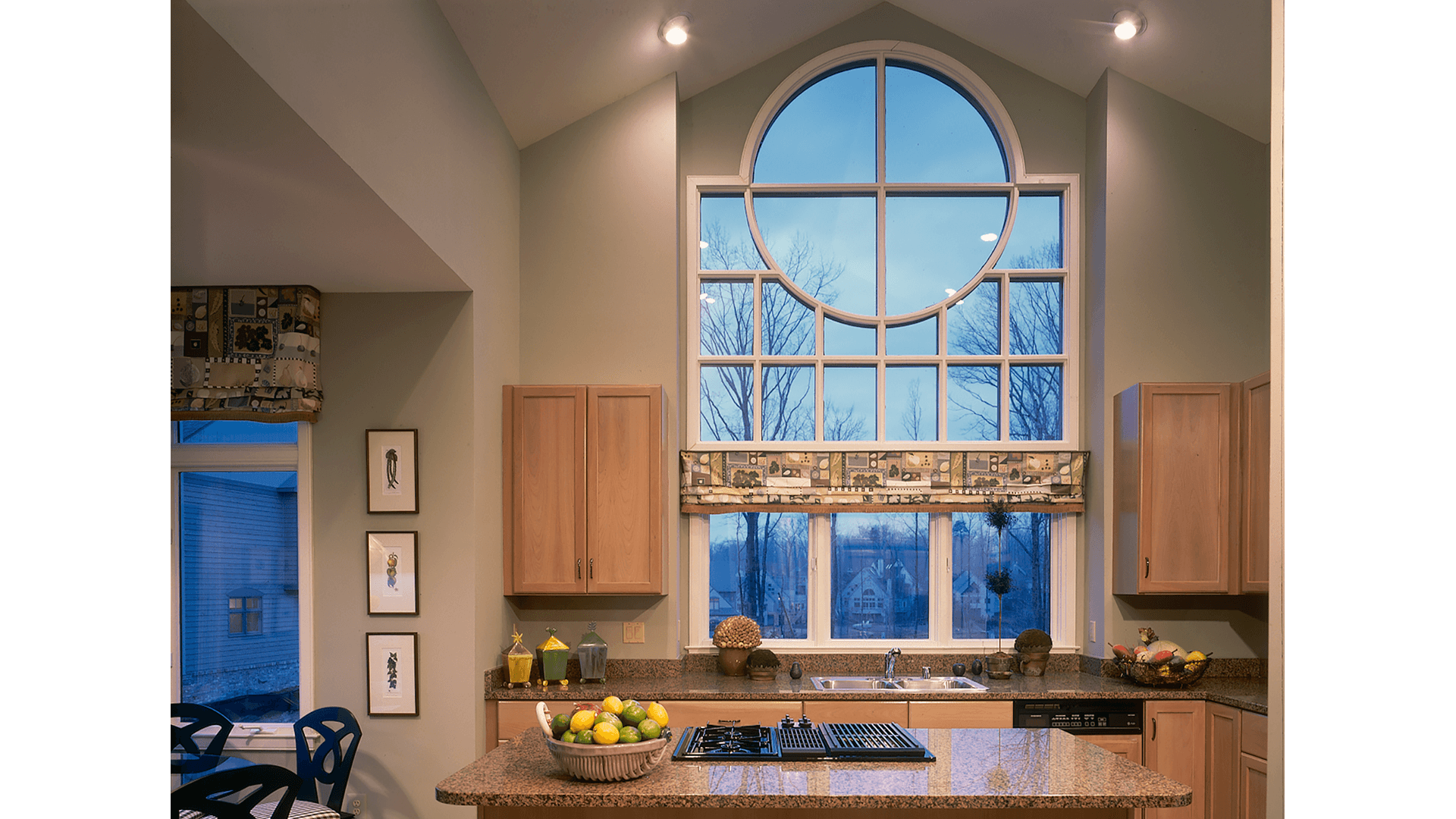 A Stunning Custom Window in Kitchen at Newport Shores