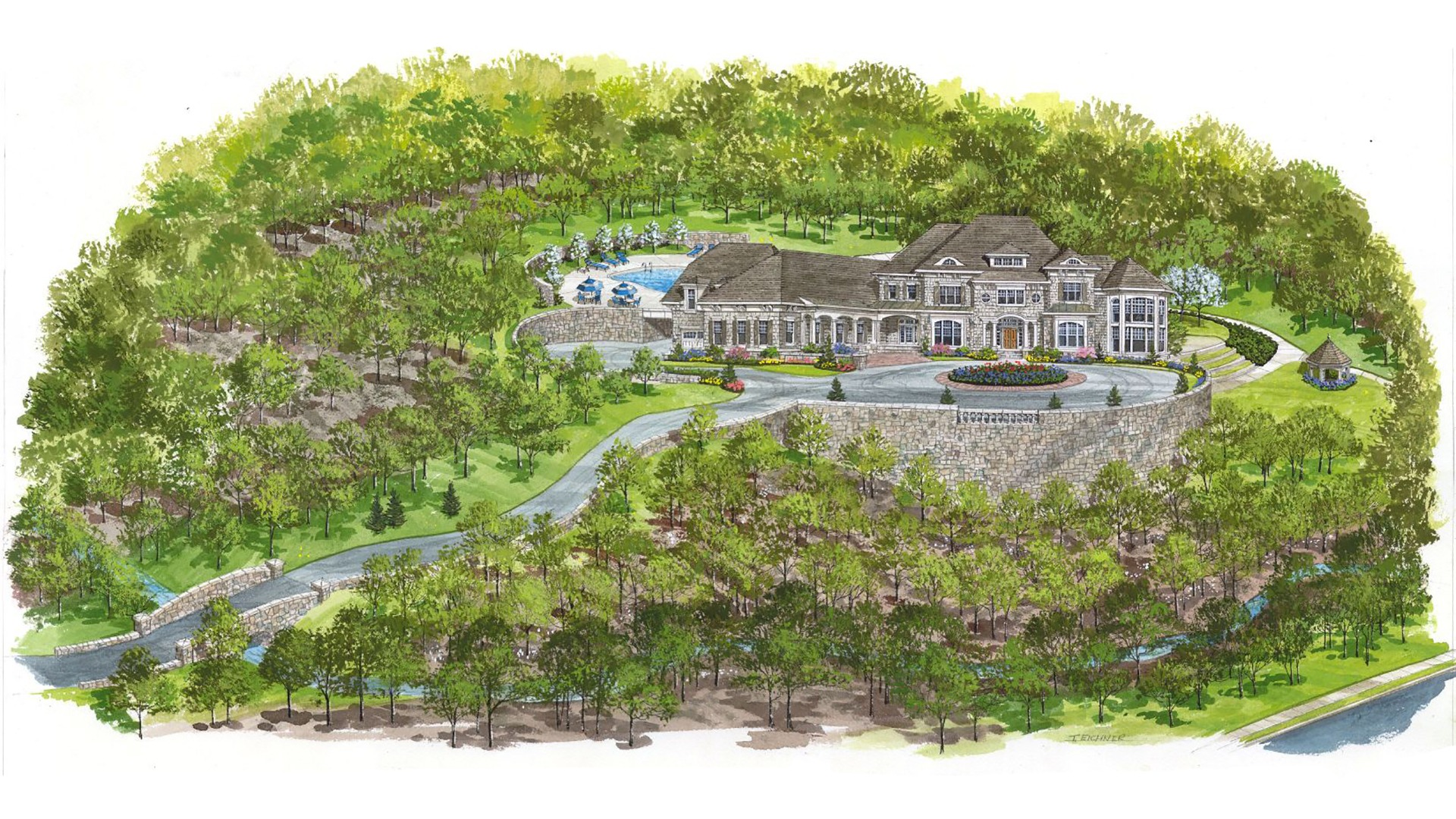 A rendering of a Wentworth from the Reserve at McLean