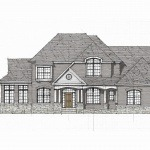 This is a rendering of a color package for the custom elevation designed for the home on Seneca View Way.
