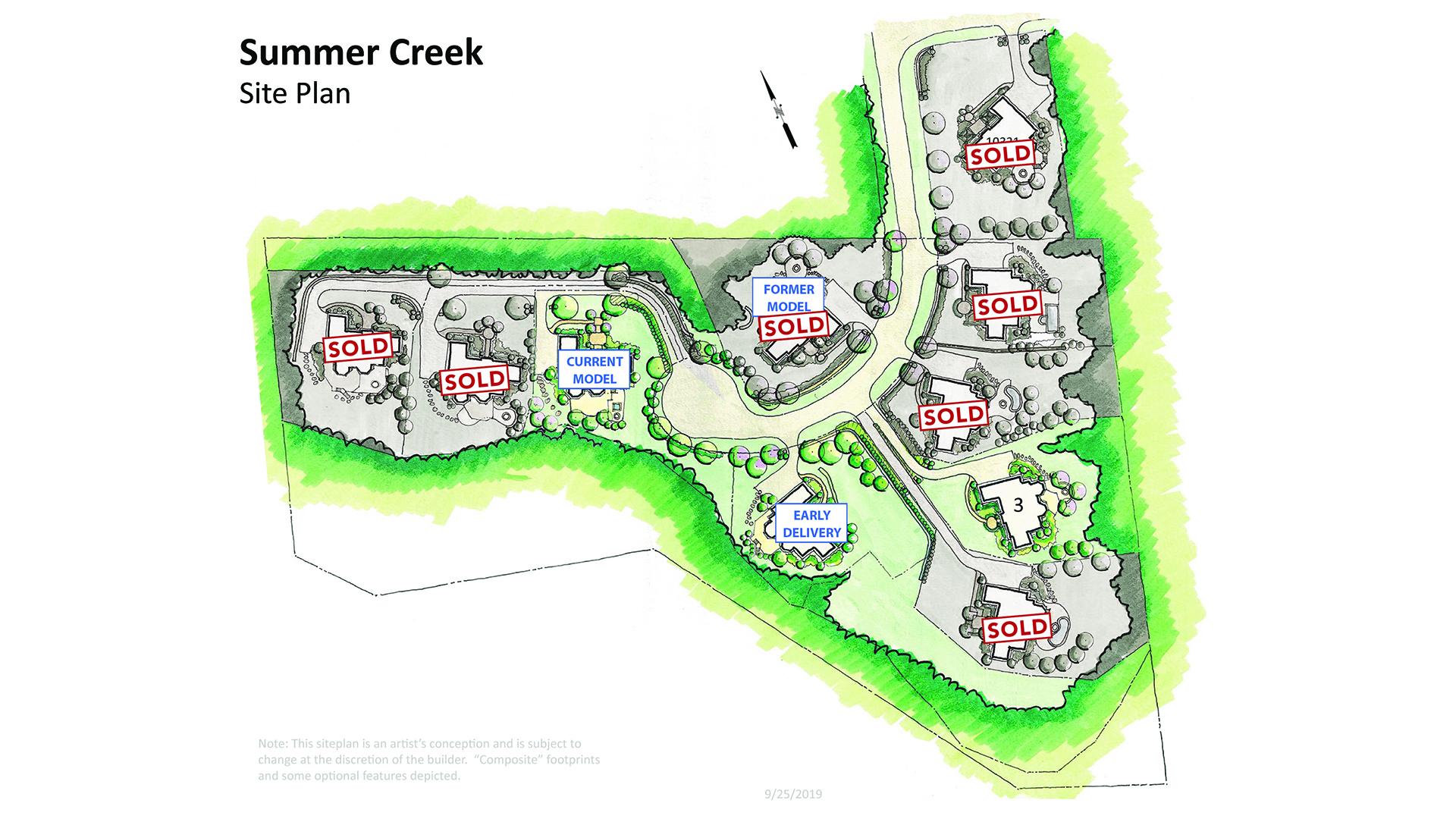 Summer Creek Site Map