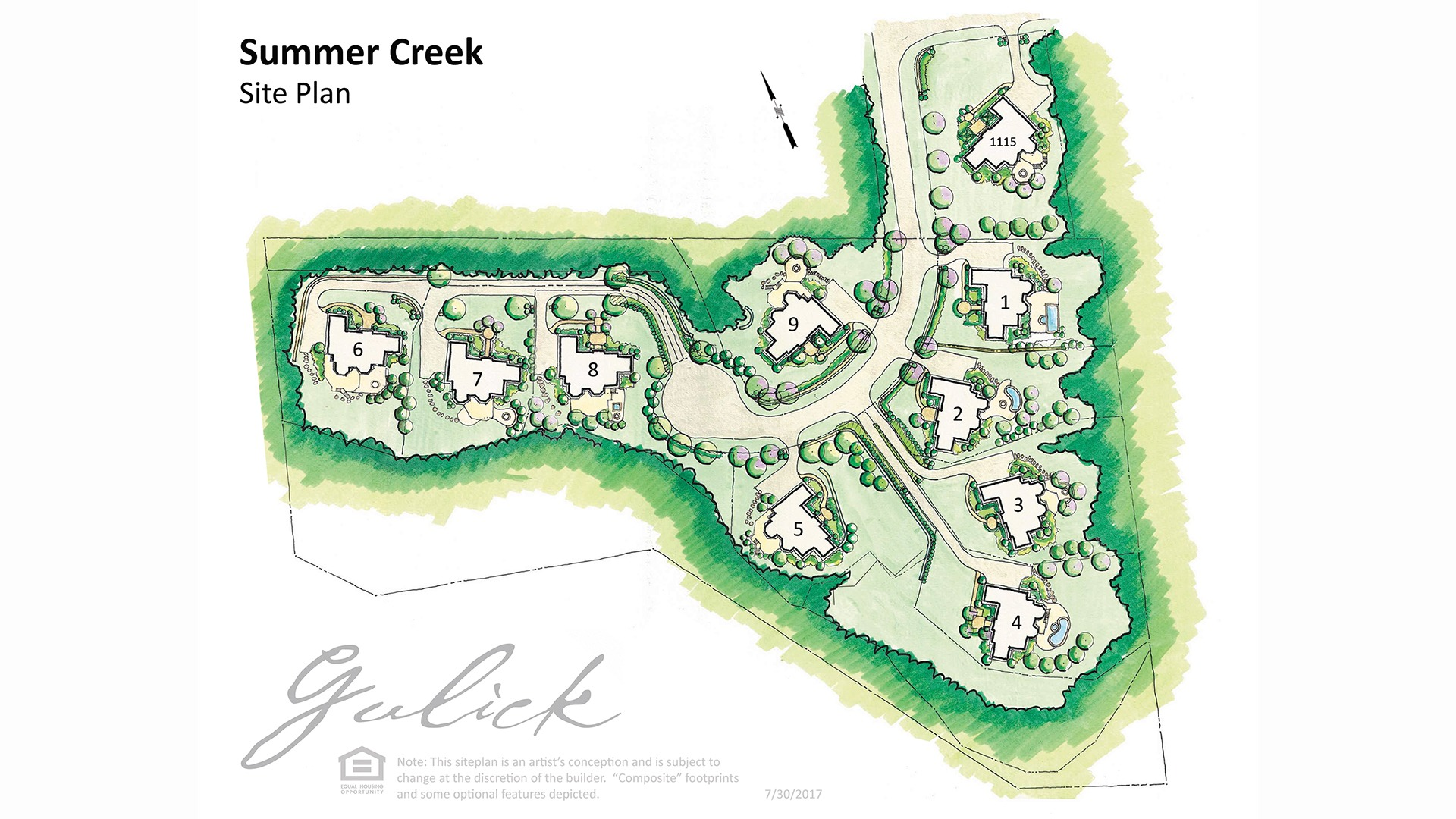 The site map for Summer Creek.