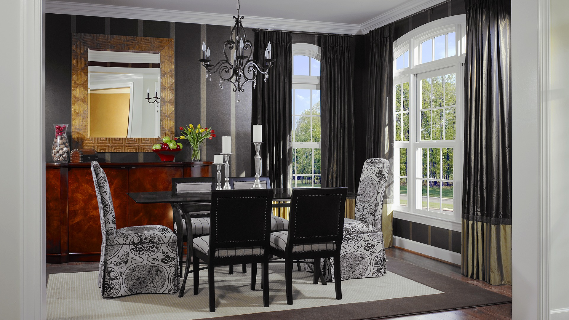 The Dining Room in the Ashcroft model in Brambleton. Some options shown.