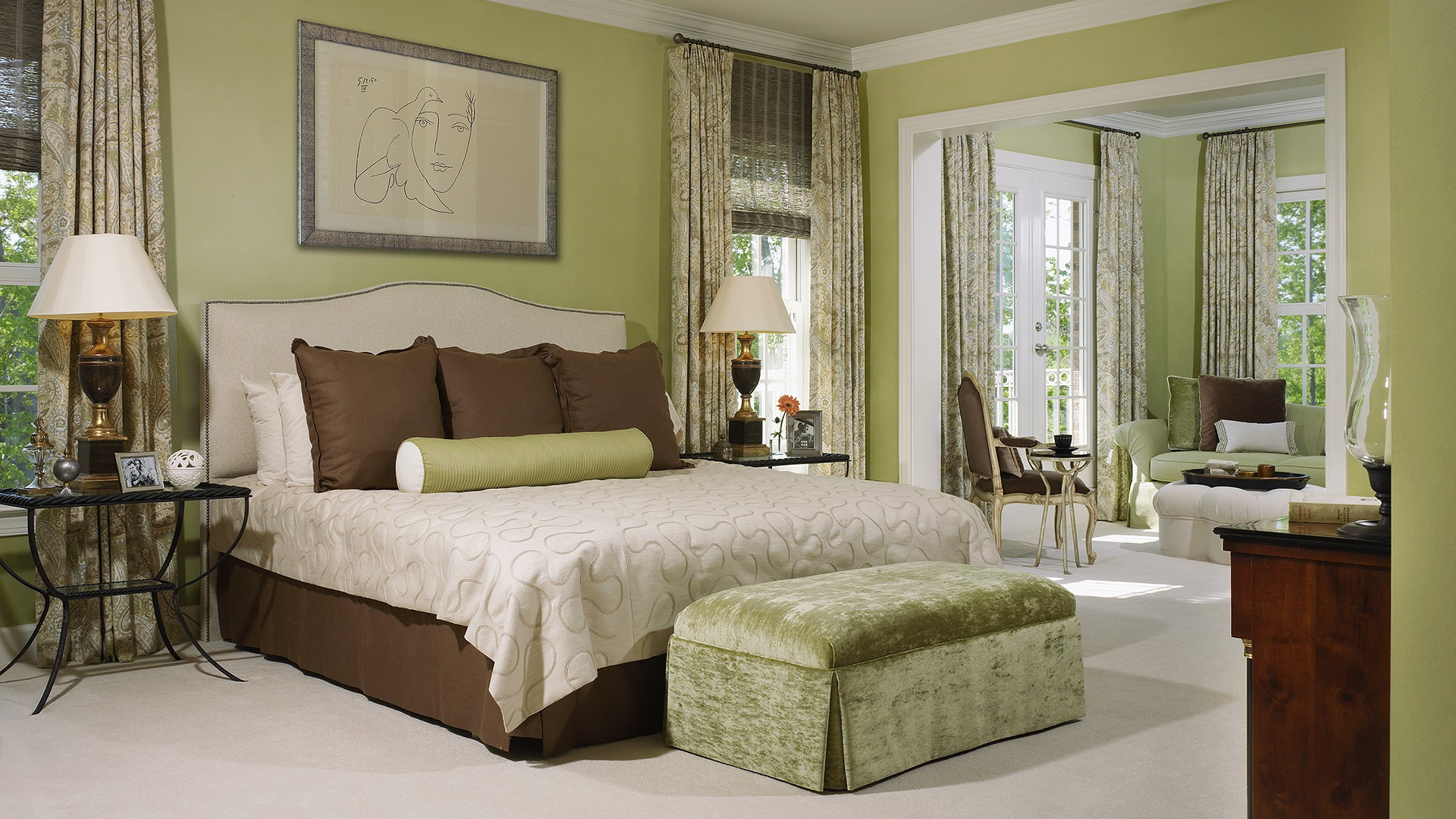 The Owner's Bedroom in our Ashcroft model in Brambleton. Some options shown.