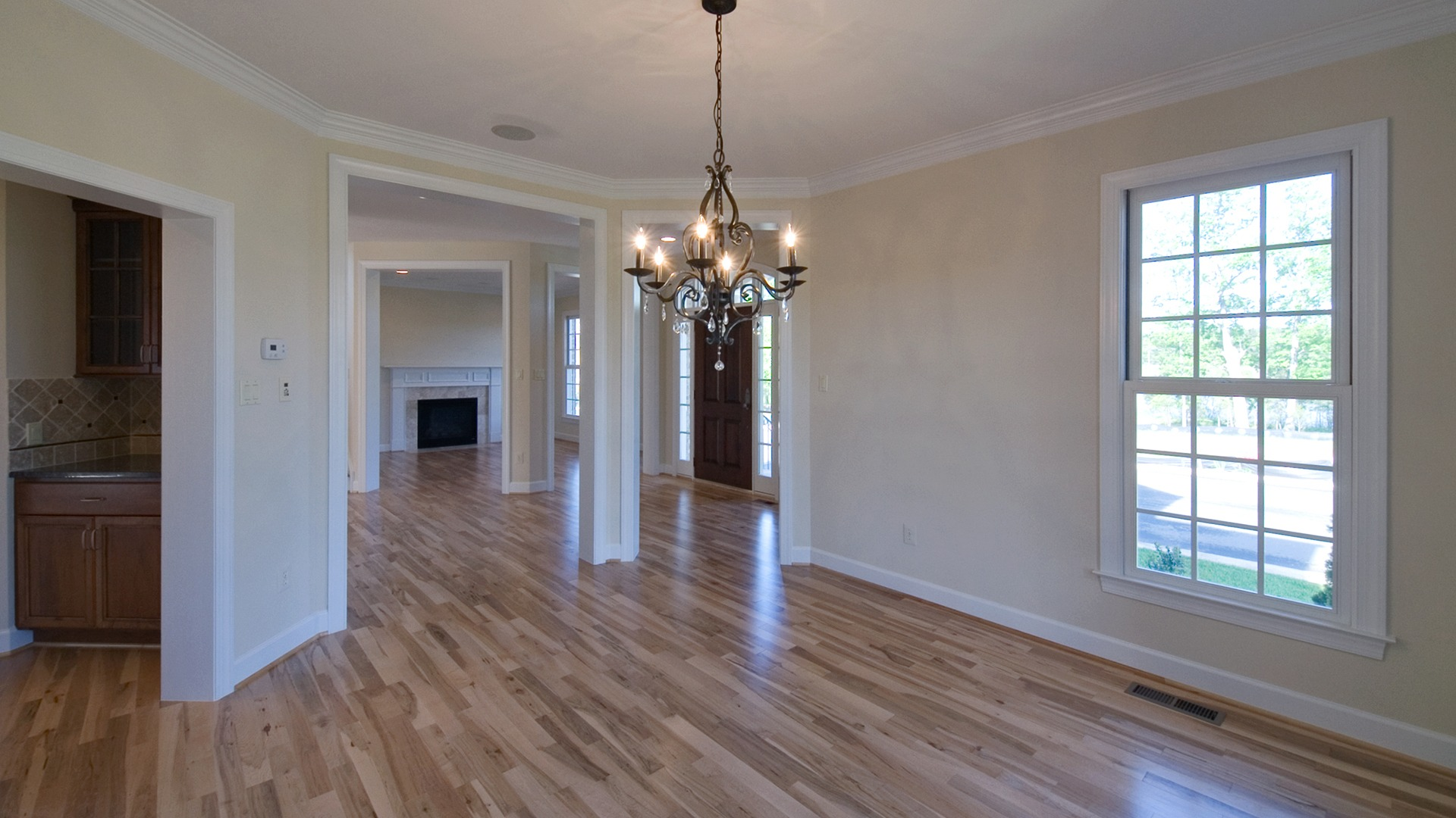 The Dining Room of the Brentwood model in Brambleton. Some options shown.