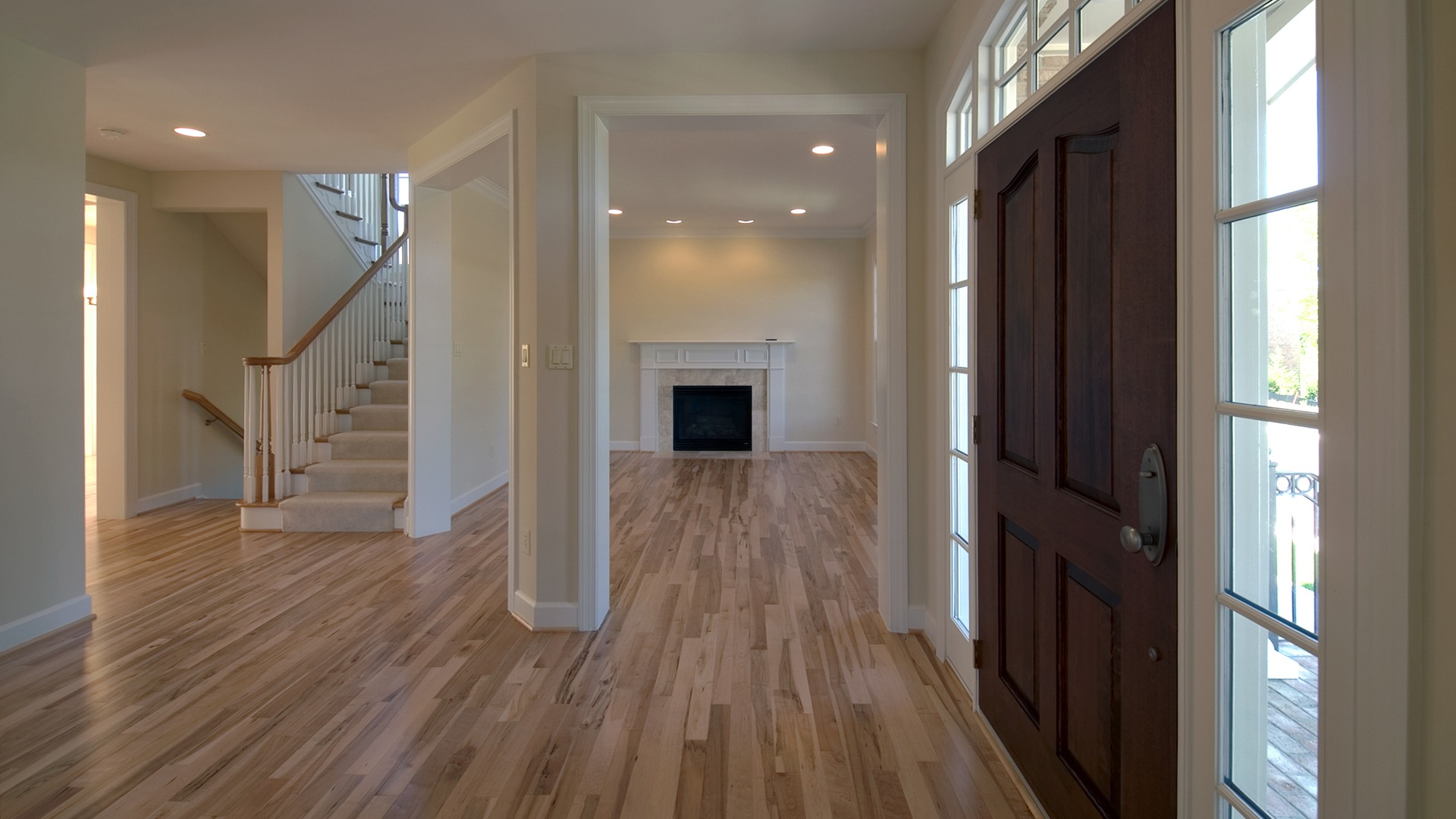 The Foyer of the Brentwood model in Brambleton. Some options shown.