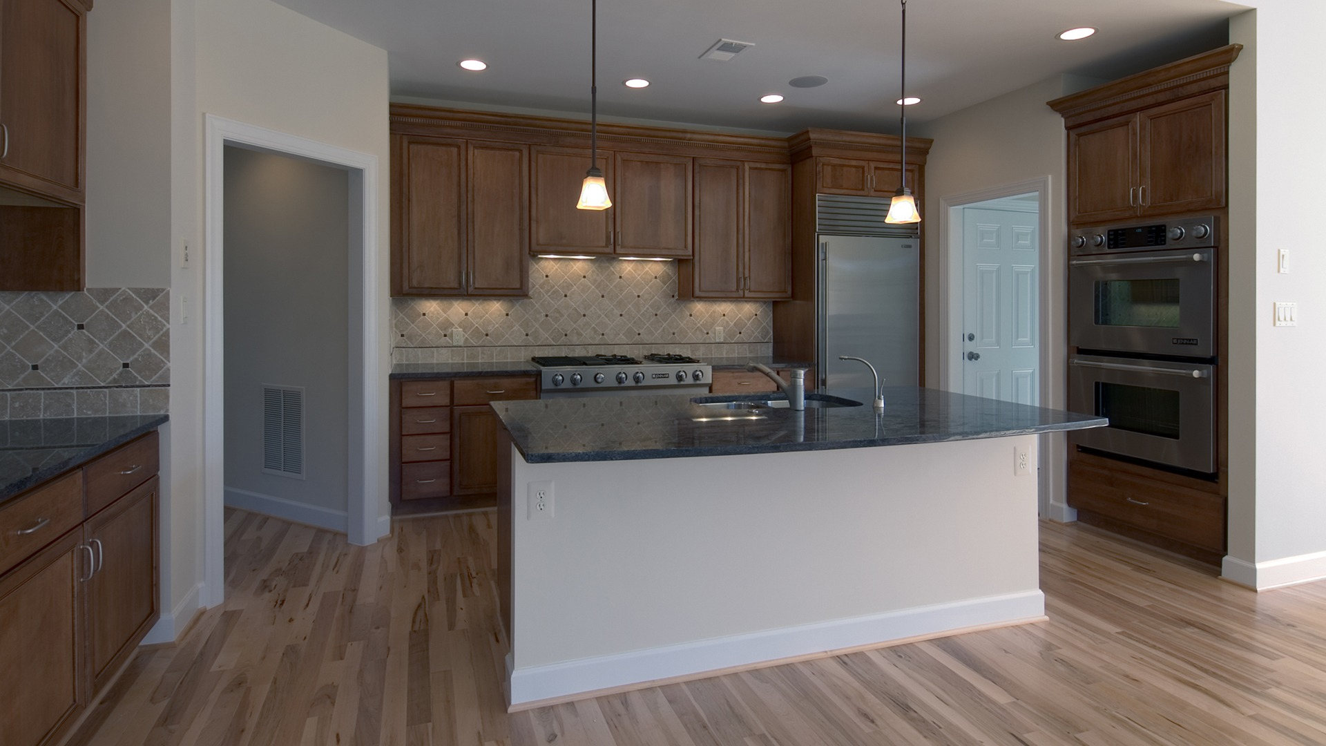 The Kitchen of the Brentwood model in Brambleton. Some options shown.