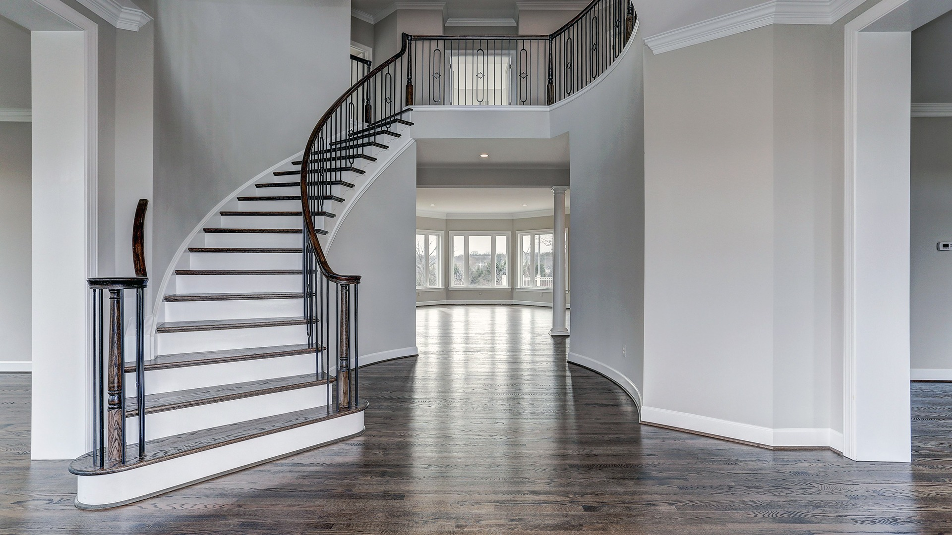 The foyer of the Winthrop on Fallsgate Homesite 2. Some optional features shown.