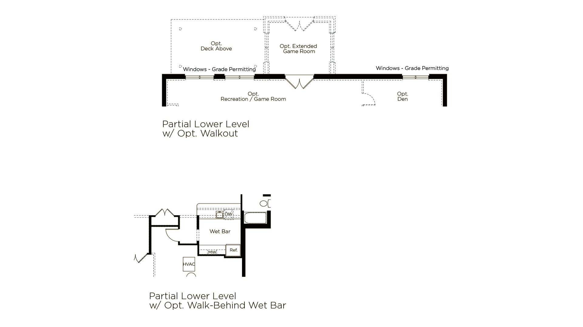 Grayson - Summerwood Series - Lower Level Optional Features