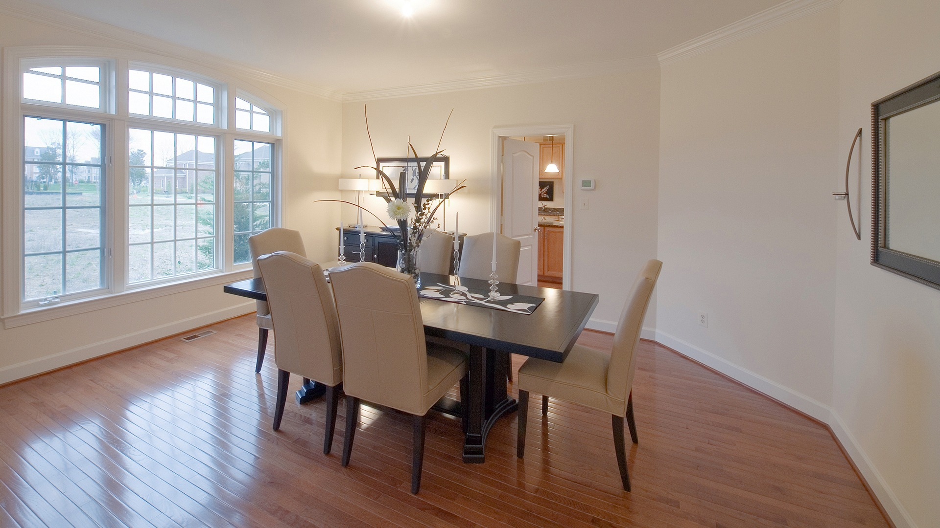 The Dining Room in the Hampton model in Brambleton. Some options shown.