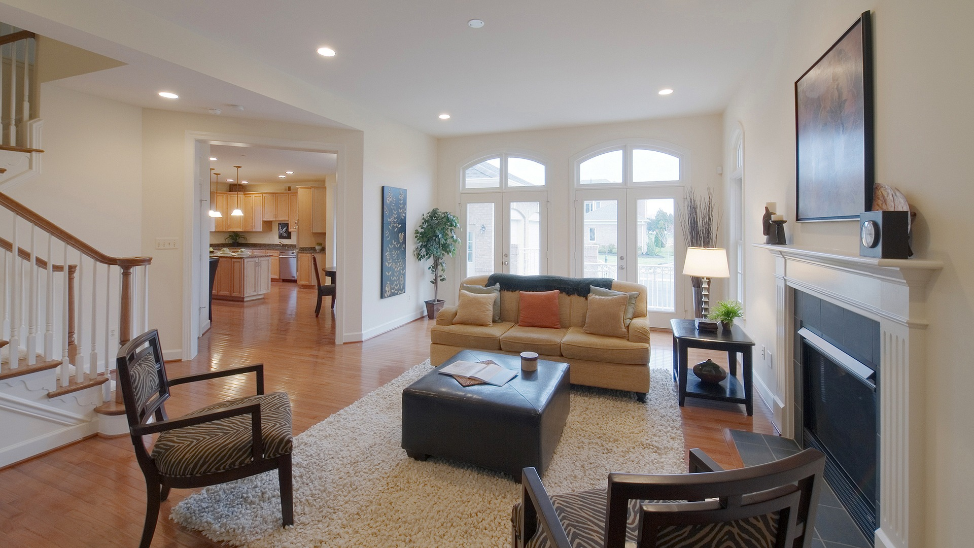 The Family Room in the Hampton model in Brambleton. Some options shown.