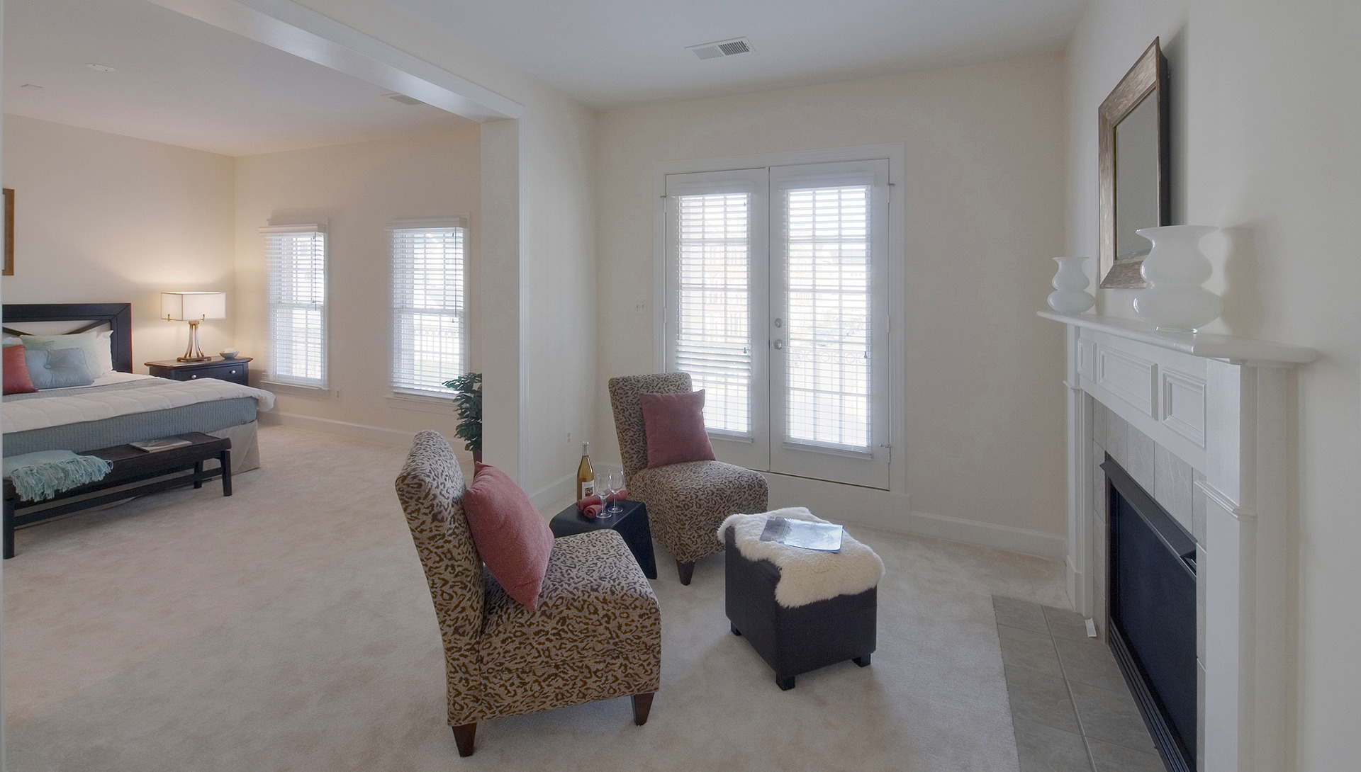 The Owner's Sitting Room in the Hampton model in Brambleton. Some options shown.