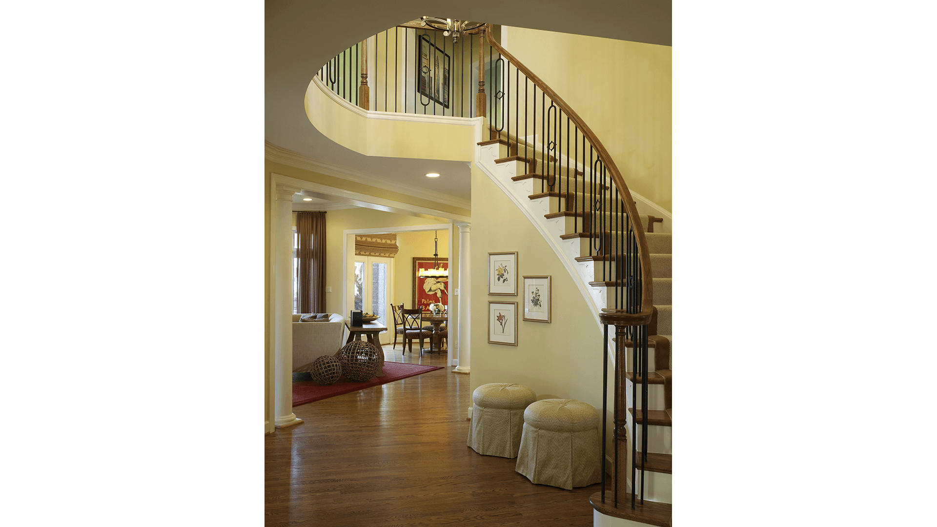 The Foyer in the Townsend model in Brambleton. Some options shown.