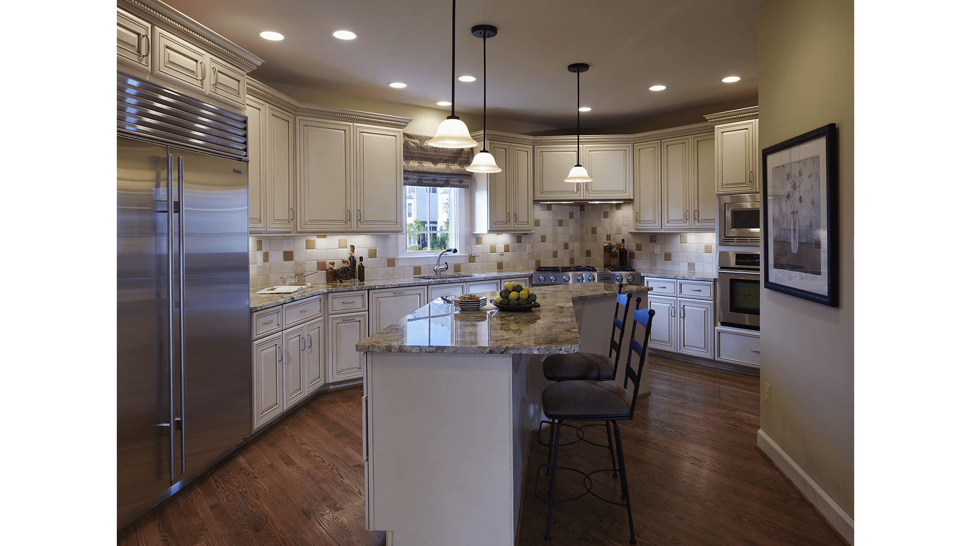 The Kitchen in the Townsend model in Brambleton. Some options shown.