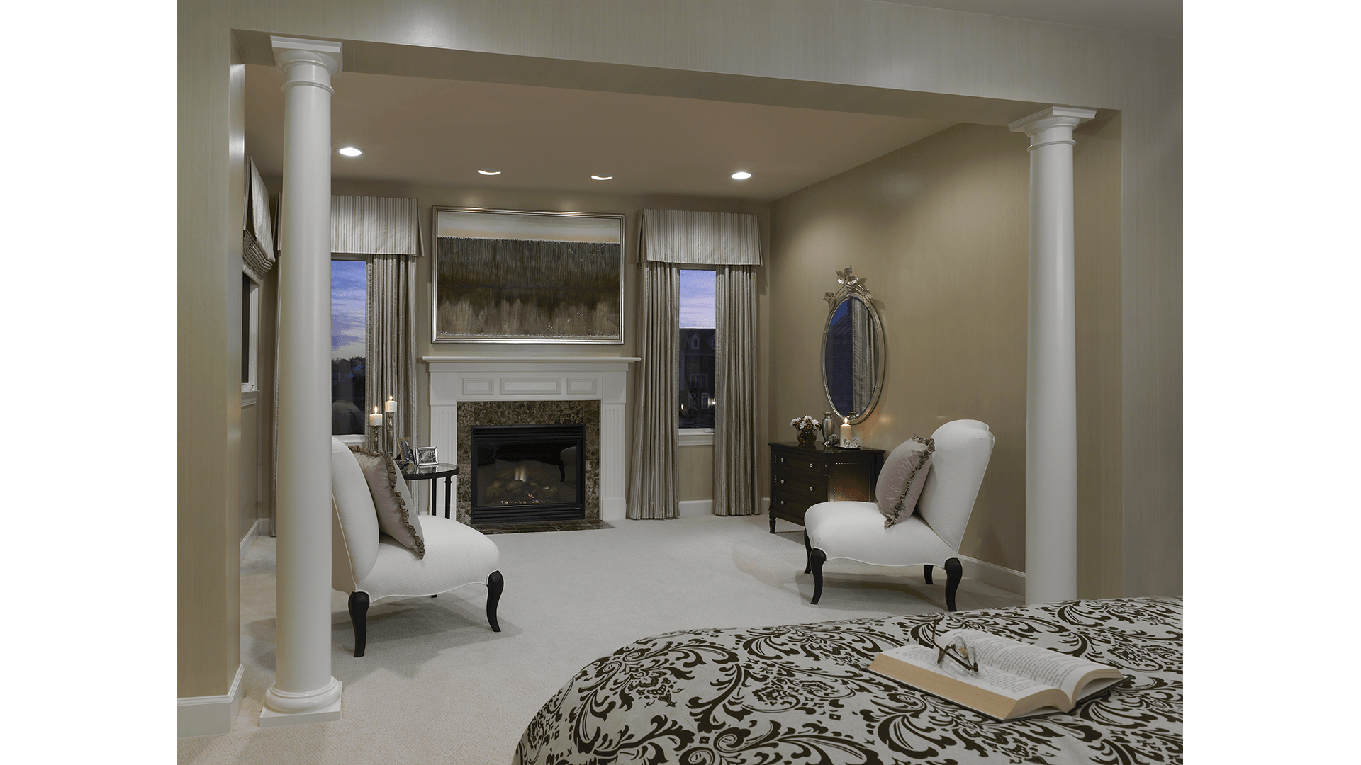 The Owner's Sitting Room in the Townsend model in Brambleton. Some options shown.