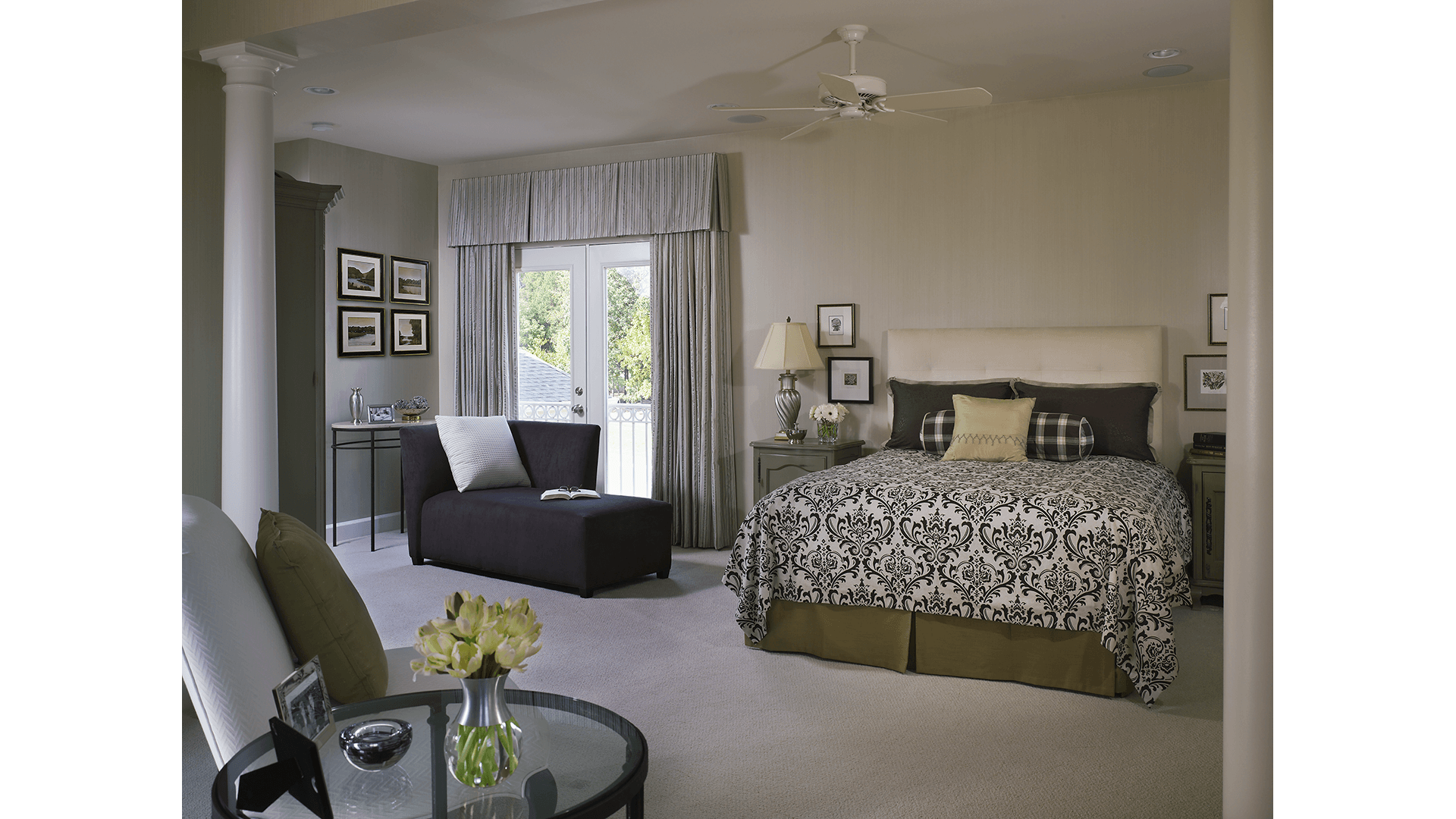 The Owner's Bedroom in the Townsend model in Brambleton. Some options shown.