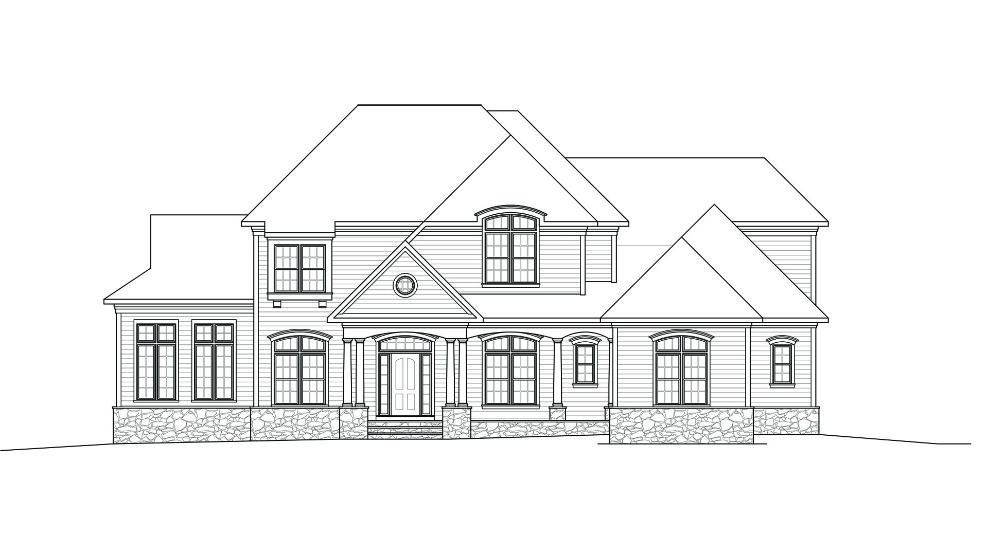 Preliminary design drawings for the new Grayson elevation, being considered for Vale Crest on Homesite 5.