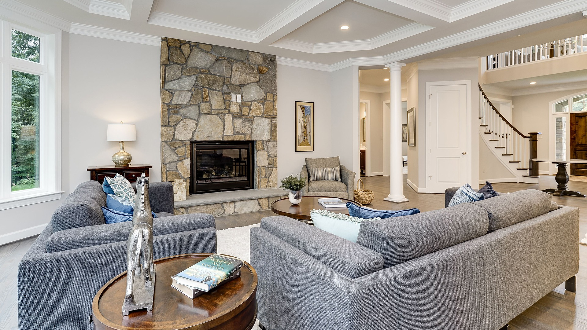 Winthrop Family Room. Some optional features shown.