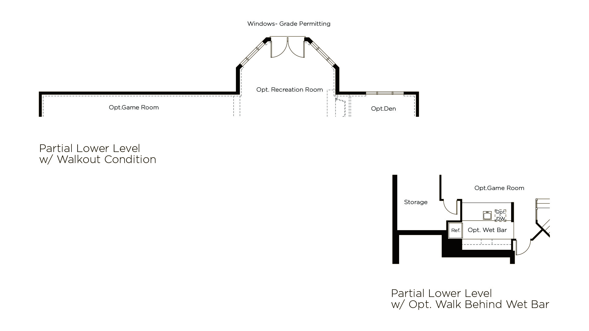 Winthrop - Summerwood Series - Optional Lower Level Features