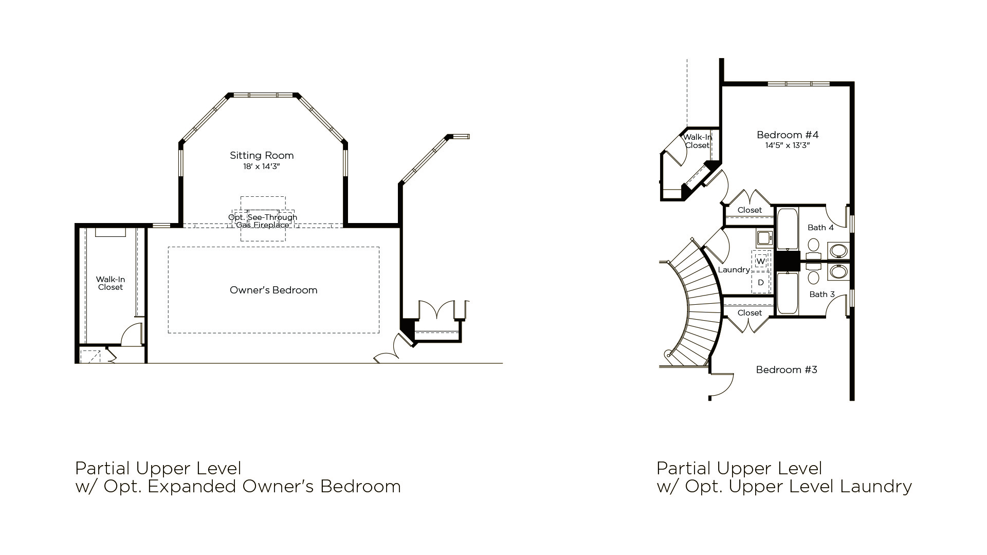 Winthrop - Summerwood Series - Optional Upper Level Features