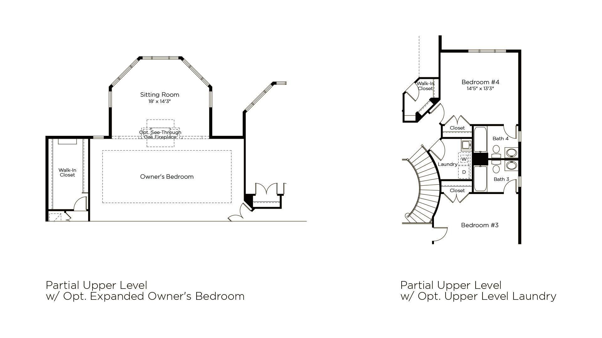 Winthrop - Summerwood Series - Optional Upper Level Features
