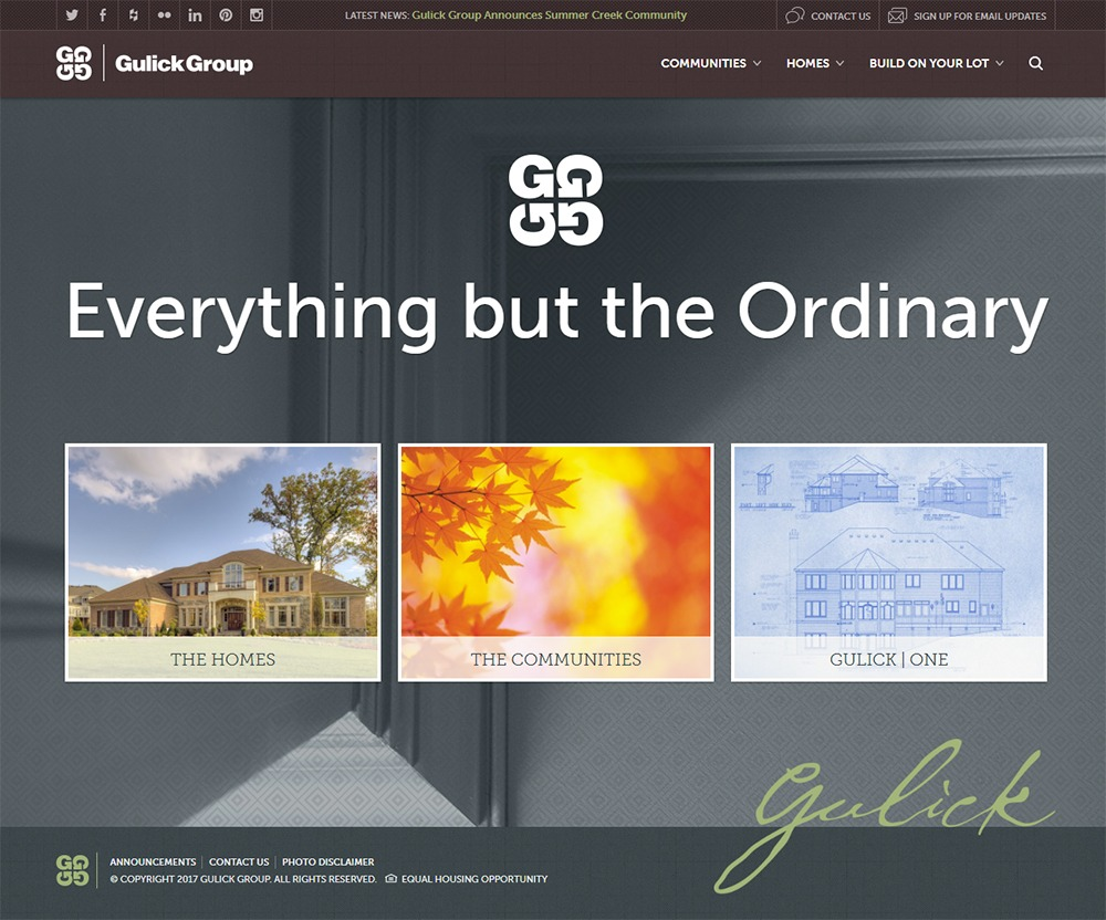 The new look of our website, gulickgroup.com