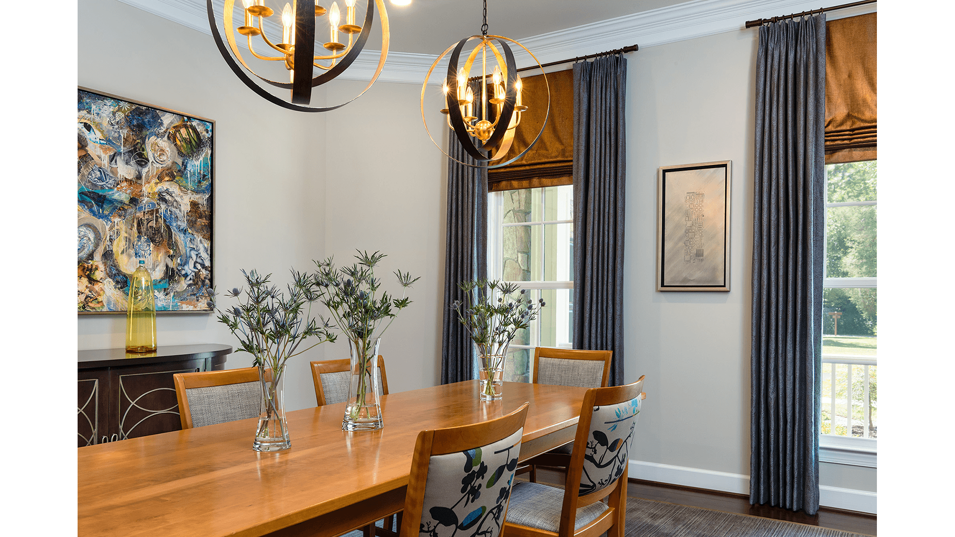 The Dining Room of a Gulick   One home on Innsbruck Avenue. © Hoachlander-Davis Photography. All Rights Reserved. Used with Permission.