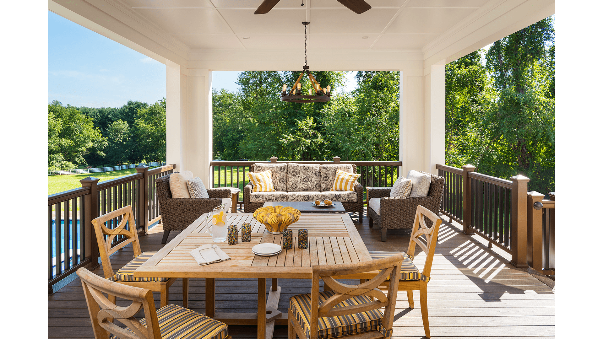 The Custom Lanai in a Gulick | One home on Innsbruck Avenue. © Hoachlander-Davis Photography. All Rights Reserved. Used with Permission.