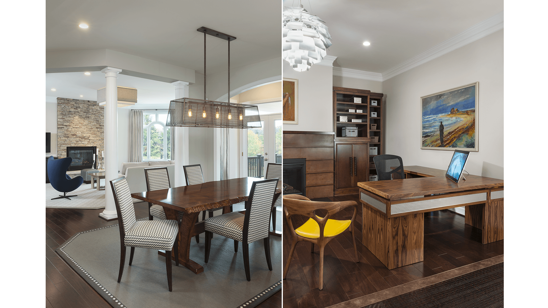 The Morning Room and Office in a Gulick | One home on Innsbruck Avenue. © Hoachlander-Davis Photography. All Rights Reserved. Used with Permission.