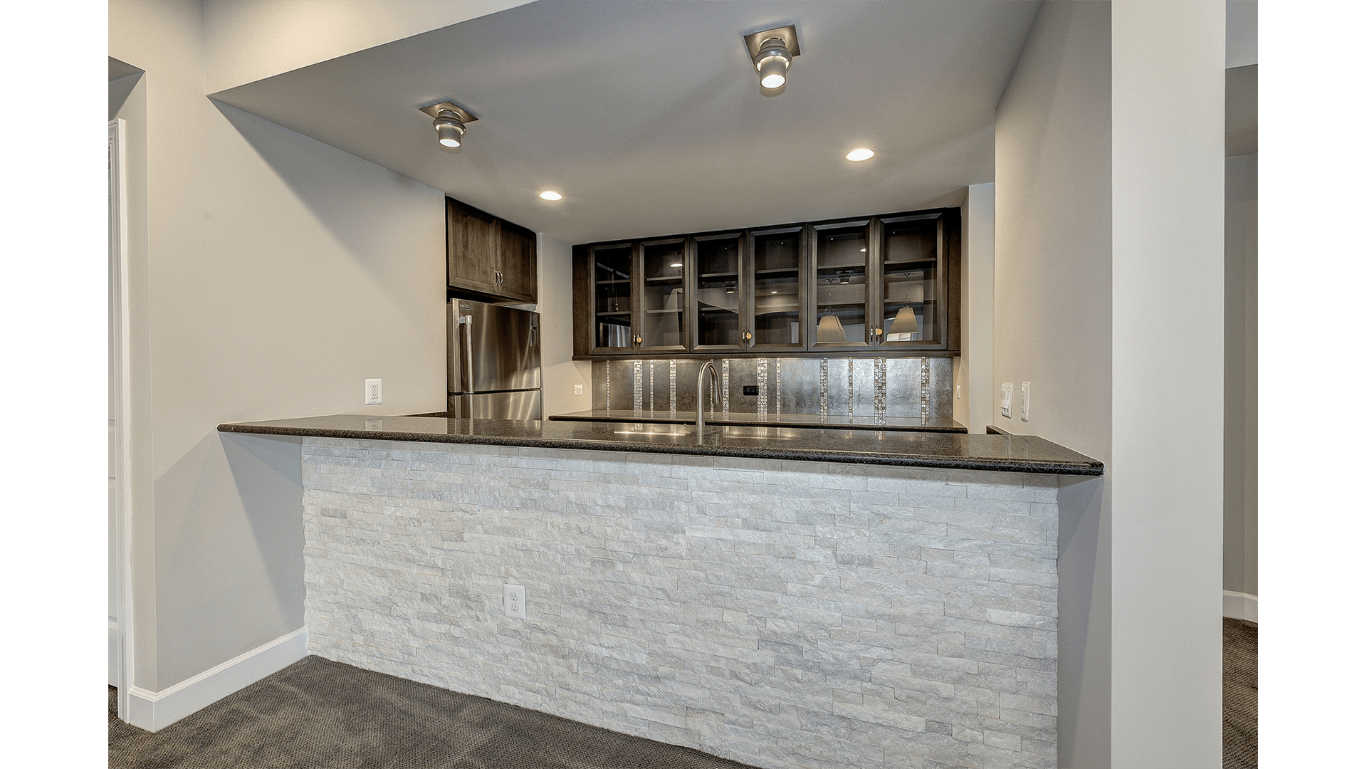 The Walk-behind Wet Bar in a Gulick | One home on Innsbruck Avenue.