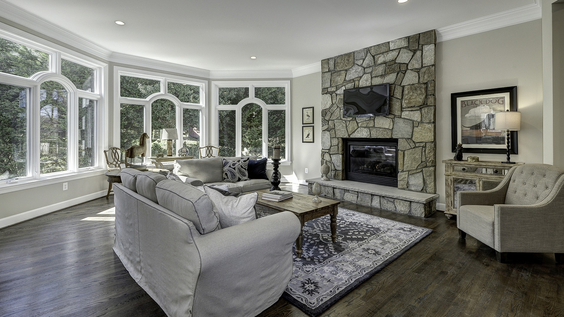 The Family Room in Carper Street, a Gulick | One custom home.