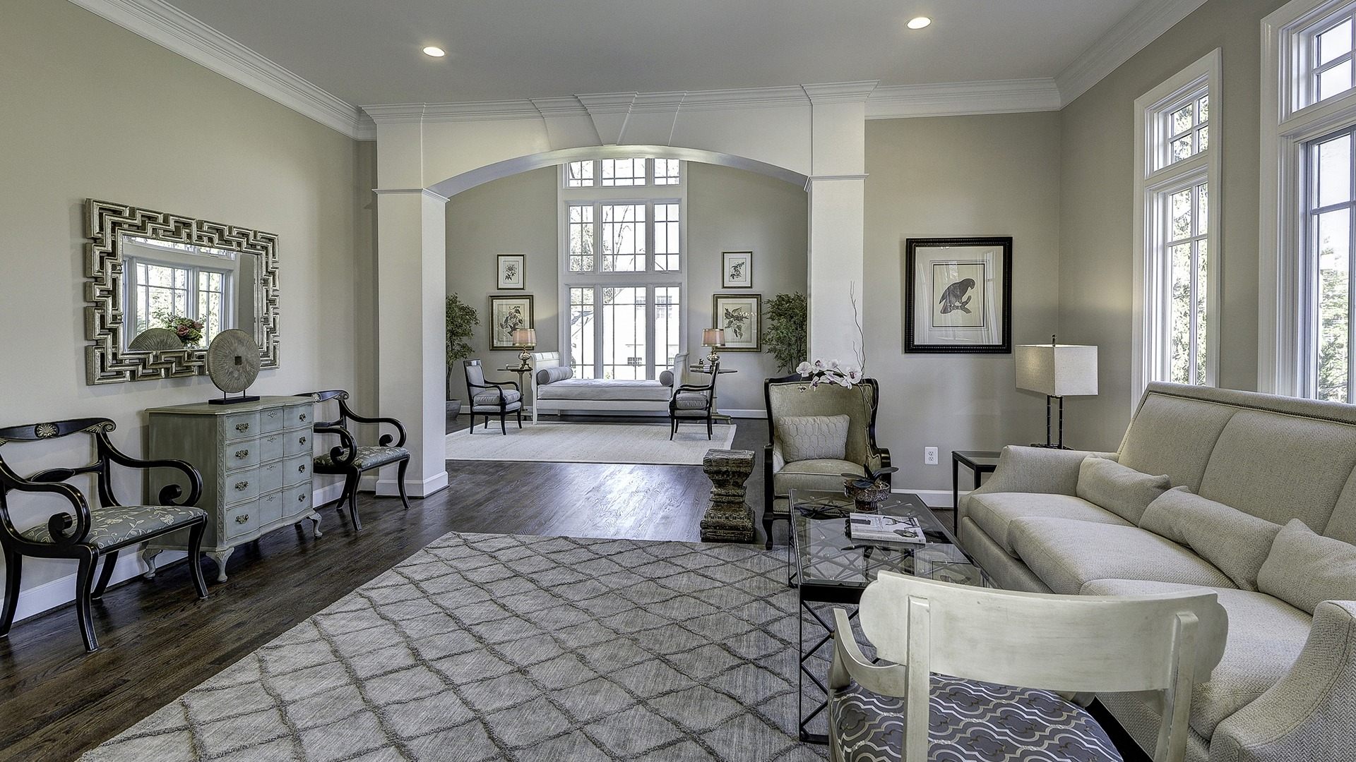 The Living Room in Carper Street, a Gulick   One custom home.