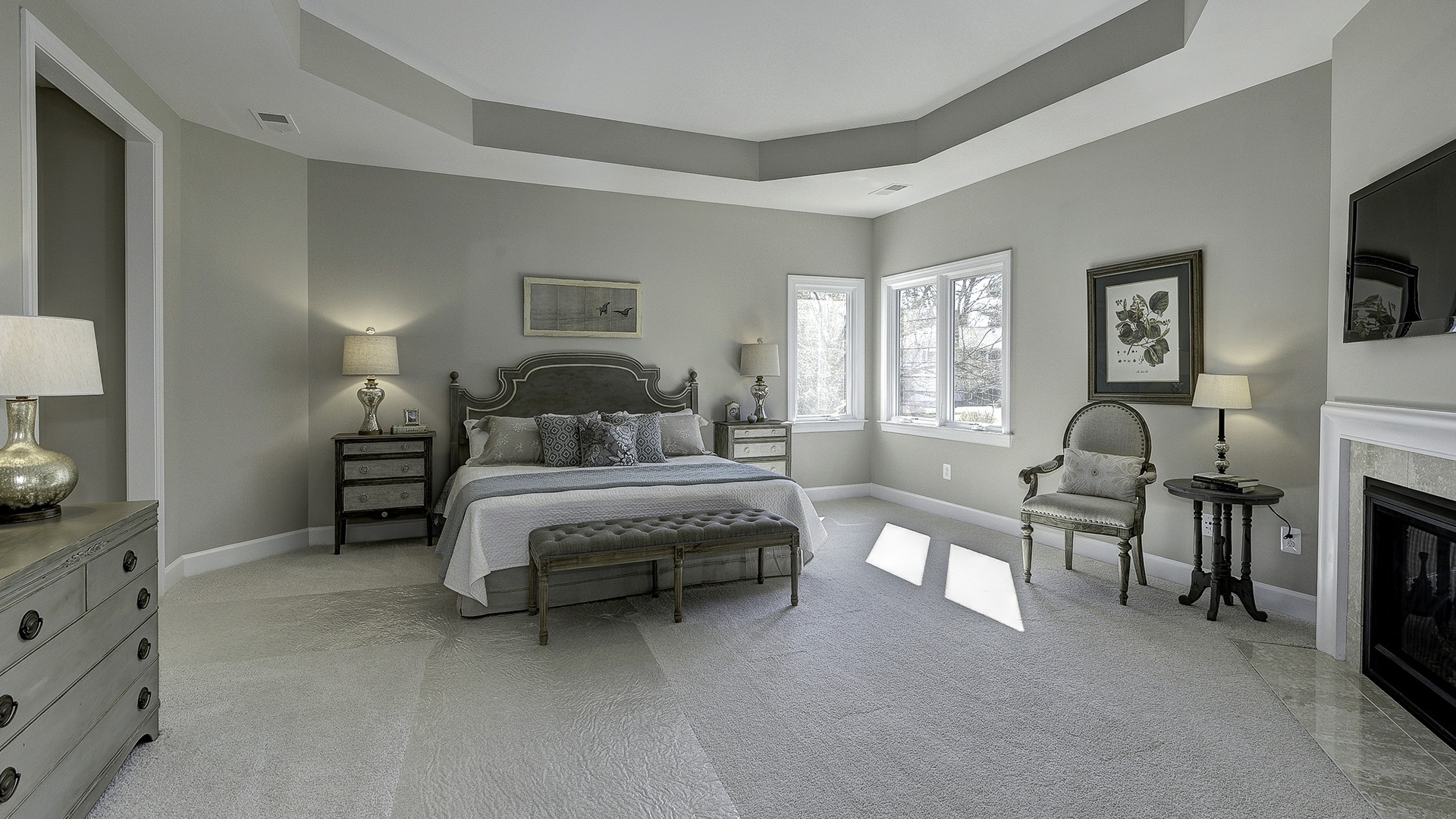 The Owner's Bedroom in Carper Street, a Gulick | One custom home.
