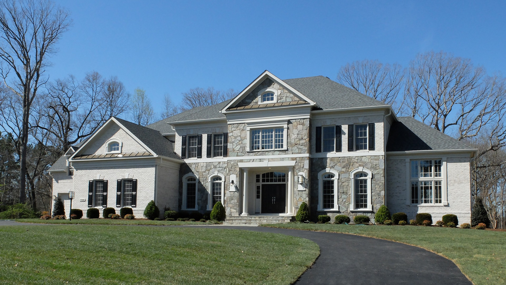 The exterior elevation of a Gulick   One home built on Leigh Mill.