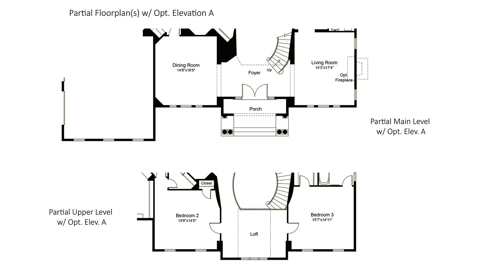 Winthrop - Fallsgate Series - Floorplan with Optional Elevation A