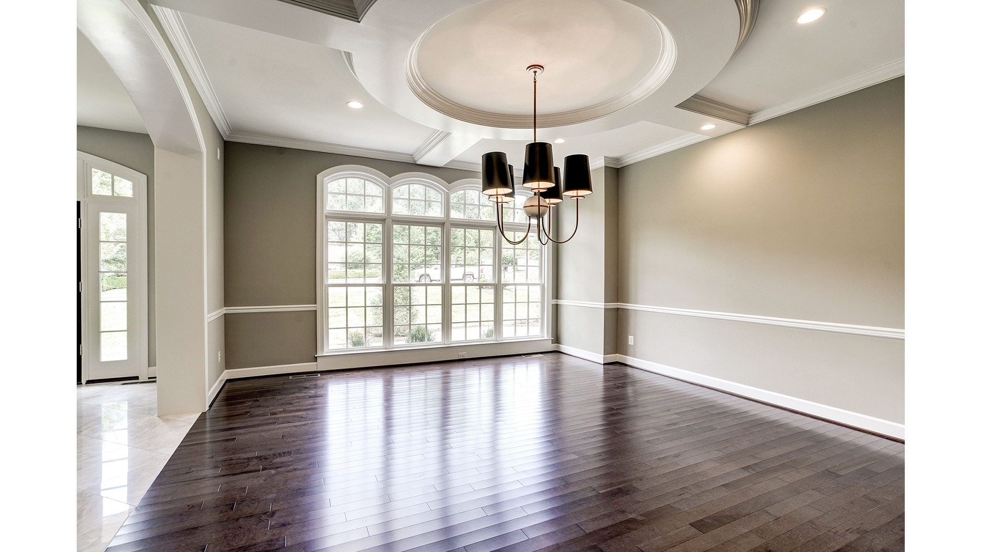 The Dining Room with custom trim in a Gulick | One custom home.