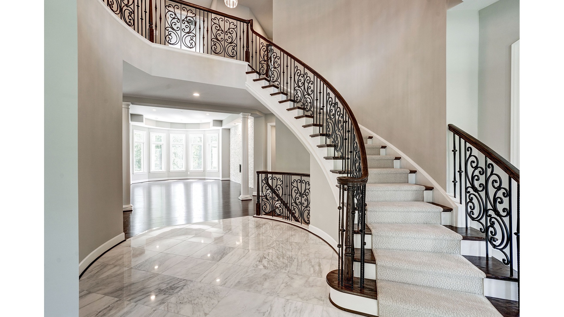 The dramatic Foyer in a Gulick | One custom home.