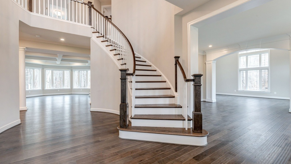The dramatic Foyer in the Winthrop on Lot 4 at Thompson's Crossing.