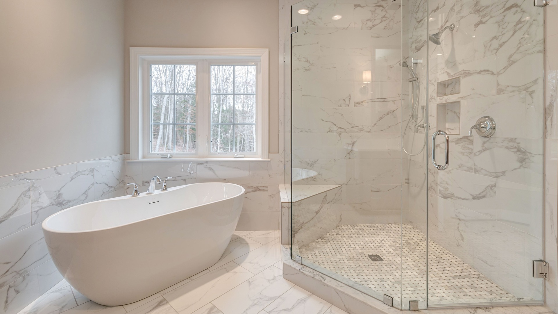 The Owner's Bathroom in the Winthrop on Lot 4 at Thompson's Crossing.