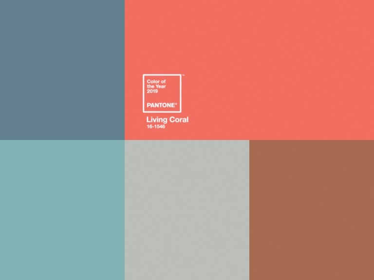 Pantone recently announced Living Coral (16-15146) as 2019's color of the year. Pantone first began choosing a yearly color in 2000.