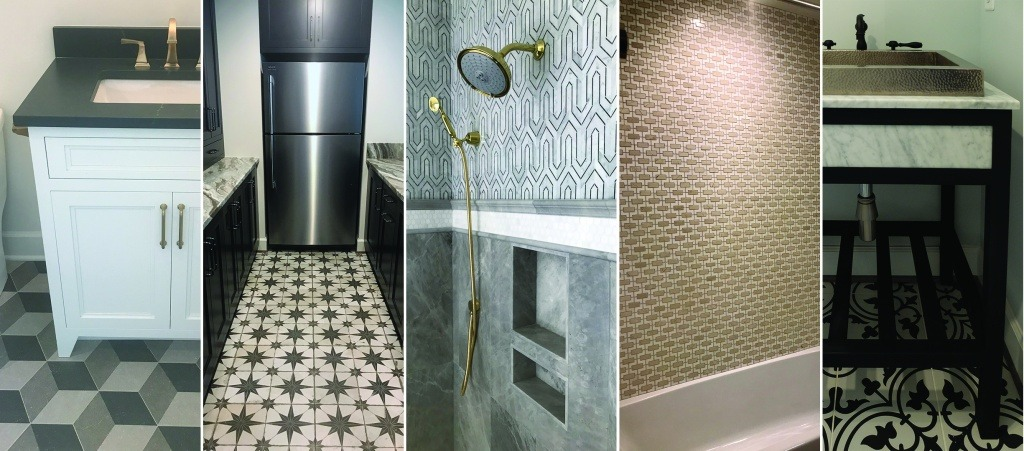 Examples of patterned tile