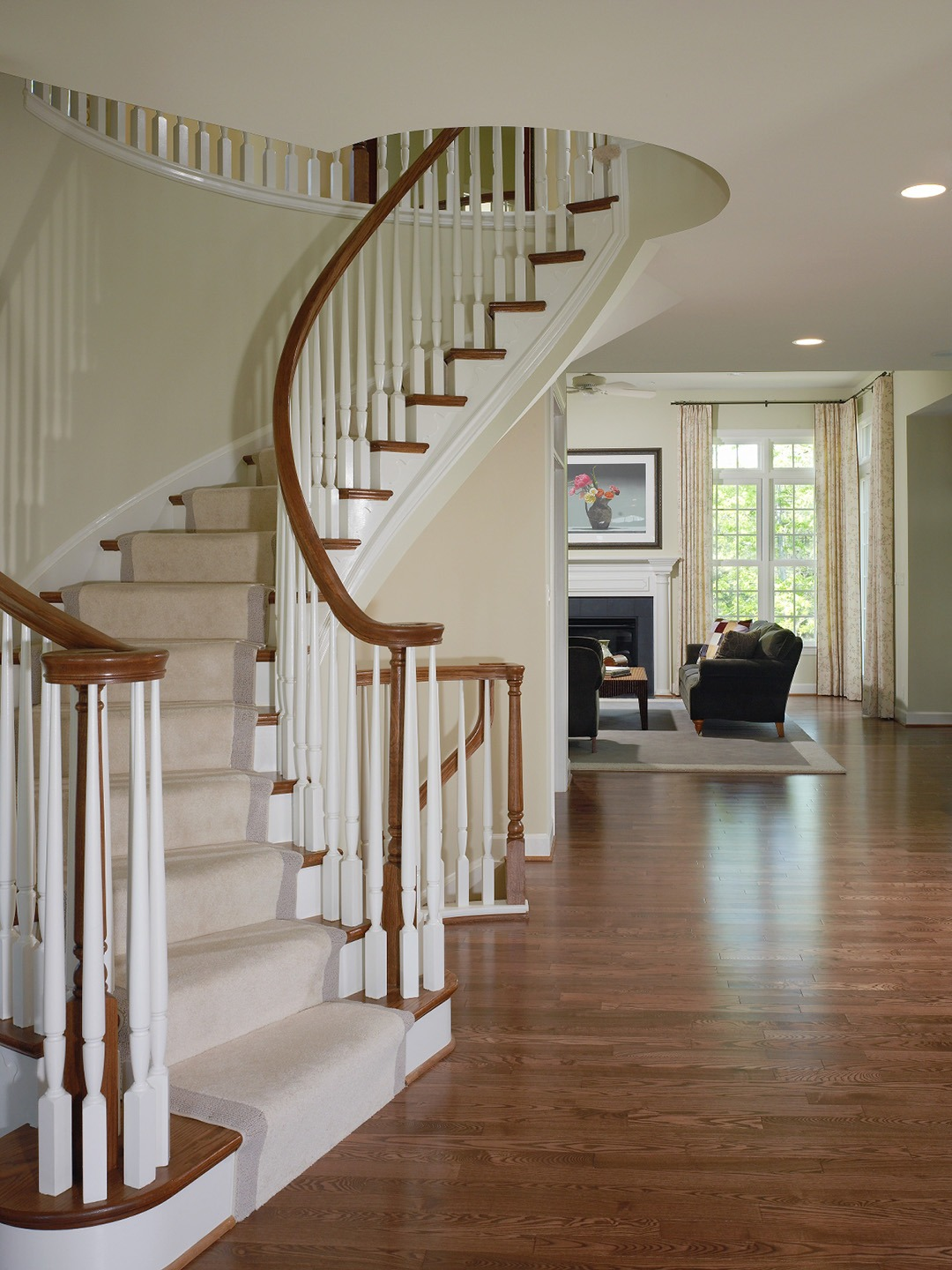 Foyer with Curved Stair