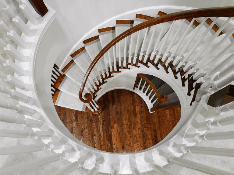 Curved Stair from Above