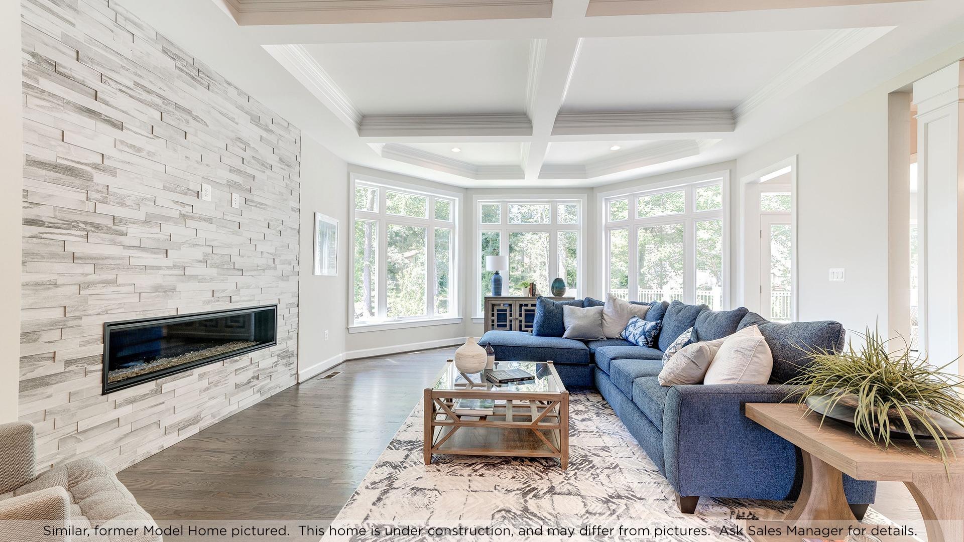 Family Room, similar Model Home