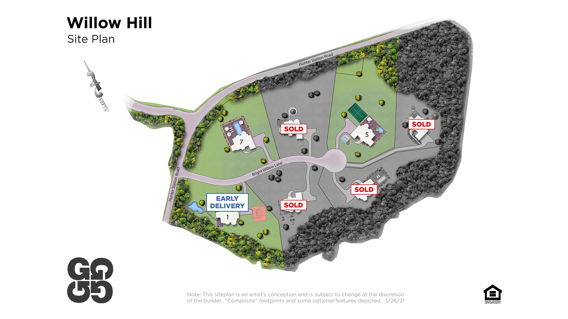Willow Hill Site Plan - Solds